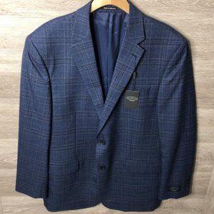 Pronto Uomo Platinum Sz 44 Long Wool Blend Blazer